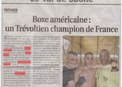 pressetbc_TBC - Article Champion de France ( Boubak)